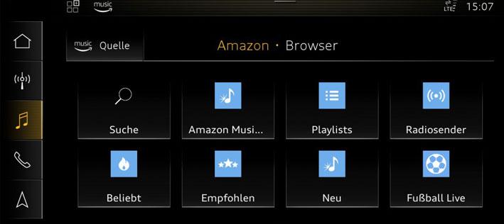 Audi connect, ahora con Amazon Music y con la Copa del Mundo de Fútbol