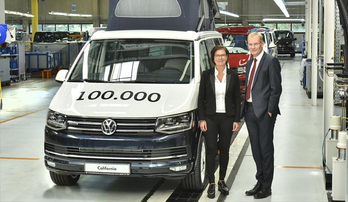 Record de producción con el Volkswagen California número 100.000