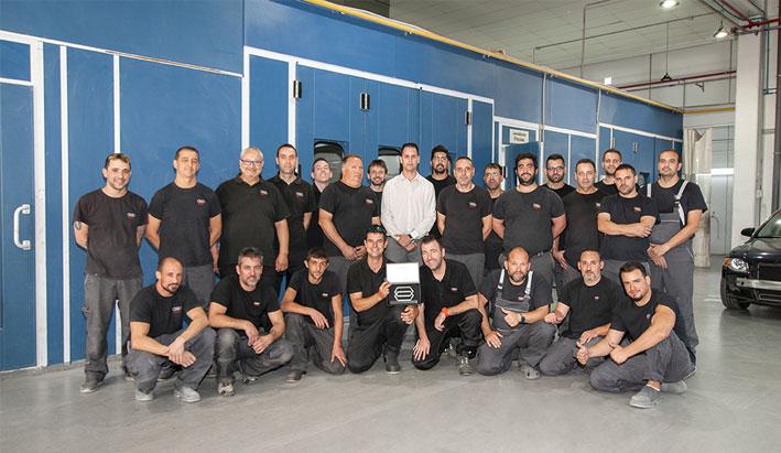 El equipo de carrocería F.Tomé obtiene el Certificado Audi Carrocería Elite