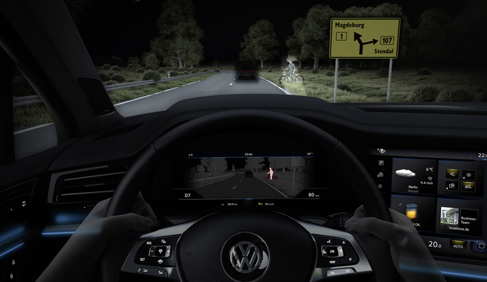 Night Vision en el nuevo Volkswagen Touareg.
