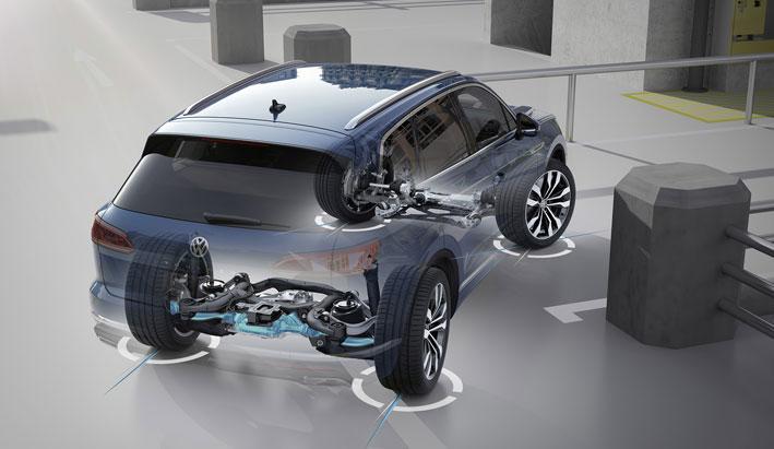 Nuevo Volkswagen Touareg con sistema de dirección a las cuatro ruedas