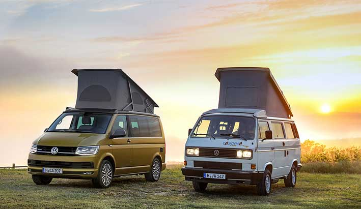 30 años de Volkswagen California. 30 años de libertad, 30 años de aventuras.