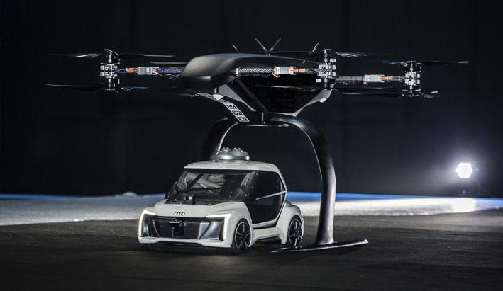 Audi, Italdesign y Airbus prueban su prototipo de taxi aéreo.