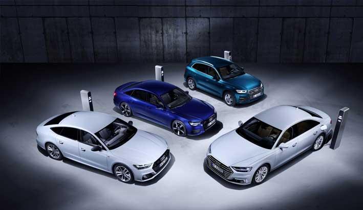 Nuevas versiones híbridas enchufables de los Audi Q5, A6, A7 y A8